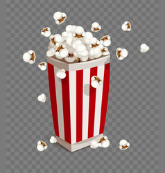 Paper cup with popcorn vector