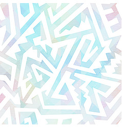 pastel color maze seamless pattern vector image
