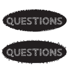 Phrase Questions of the letters vector image