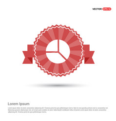 pie chart - red ribbon banner vector image