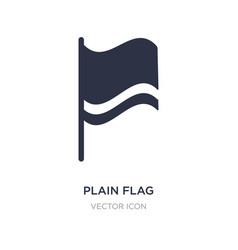Plain flag icon on white background simple vector