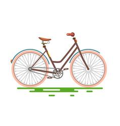 retro bicycle bike isolated on white background vector image