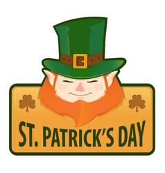 saint patricks day greetings label vector image