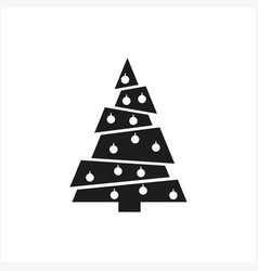 Simple minimal black tree icon symbol style vector