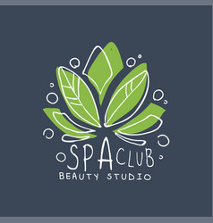 Spa club healthy studio logo template emblem for vector