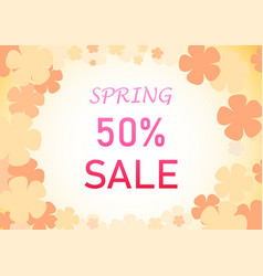 Spring background with pastel flower art vector