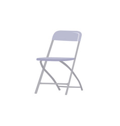 Steel foldable chair isolated on white background vector