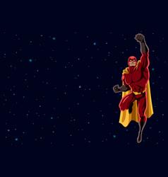 superhero flying 2 space vector image