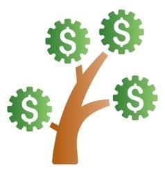 Technology Money Tree Gradient Icon vector image