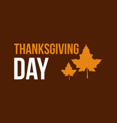 thanksgiving day style background vector image
