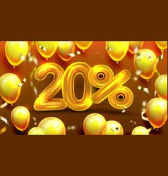 twenty percent or 20 marketing offer vector image