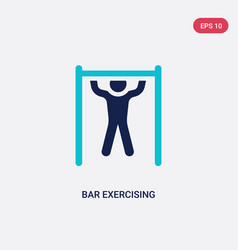 Two color bar exercising icon from gym and vector