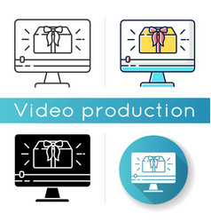 unboxing video icon vector image
