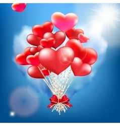 Valentine heart-shaped baloons EPS 10 vector image vector image