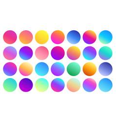 Vivid gradient spheres minimalist multicolor vector
