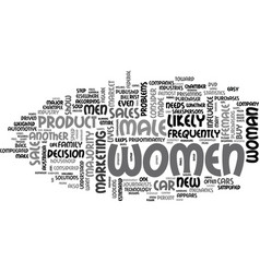 why market to women and how should you do it text vector image