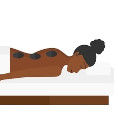 Woman getting stone therapy vector