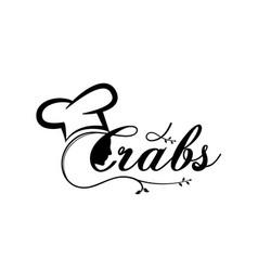 Women chef crabs logo designs vector