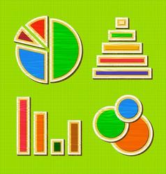 Wooden infographic element design vector image
