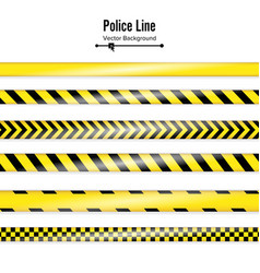 yellow with black police line danger security vector image