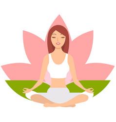 yoga woman meditating vector image