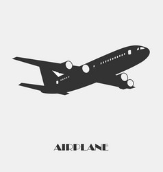 airplane on white vector image vector image