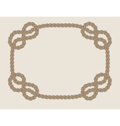 Frame made from rope vector