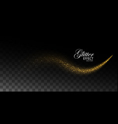 glowing stream of sparkles and light rays vector image vector image