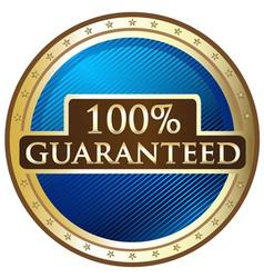 Hundred Percent Guaranteed vector image