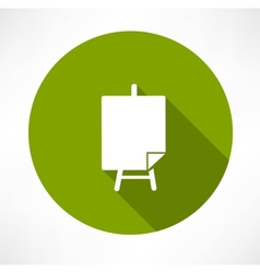 Poster stands icon vector image