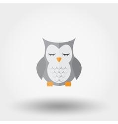 Sleeping owl Stuffed toy vector image vector image