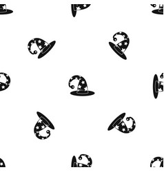 wizards hat pattern seamless black vector image vector image