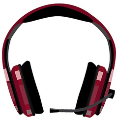 Headphones with microphone vector image vector image