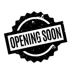opening soon rubber stamp vector image vector image