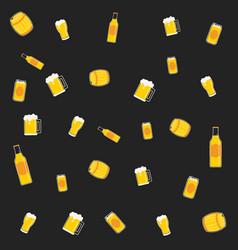pattern beer vector image vector image