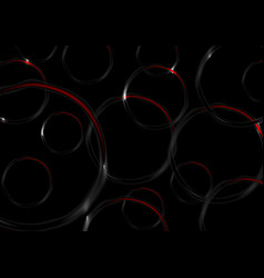 red and black contrast circles abstract background vector image vector image