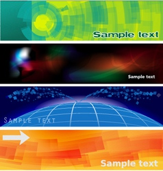 abstract banners and headers vector image vector image