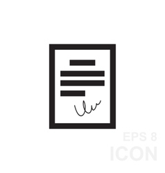 Black agreement icon in flat style vector