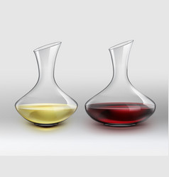 Decanters with wine vector
