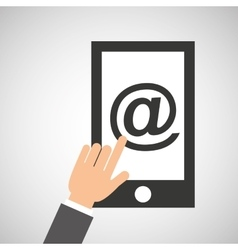 smartphone app mail social media icon vector image