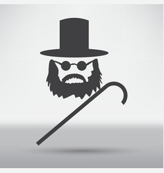 beard icon vector image