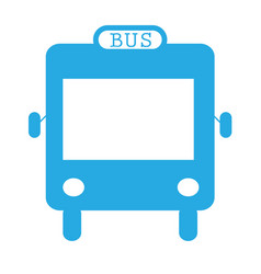 bus icon flat design style on white background vector image vector image