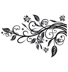 Leaves flowers vector image
