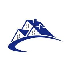 Modern cottage or house symbol vector