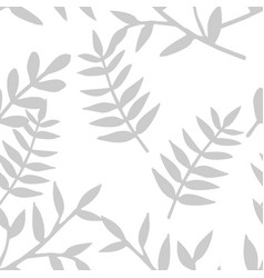 tile tropical pattern with grey exotic leaves vector image