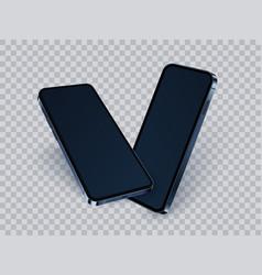 3d smartphone mockup realistic modern mobile vector