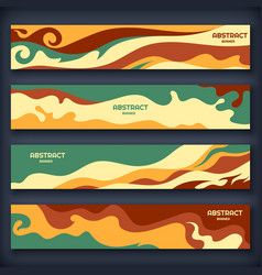 abstract modern banners with wavy elements vector image