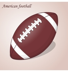 American Football ball isolated on a pink vector image