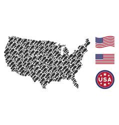 american map mosaic of boot footprint vector image
