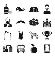 Atelier style fashion and other web icon in vector